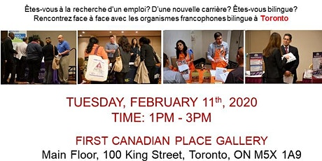 TORONTO EXPRESS BILINGUAL JOB FAIR – February 11th 2020 tickets