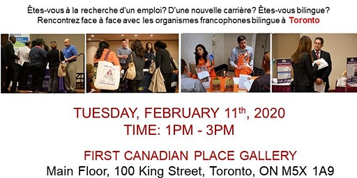 TORONTO EXPRESS BILINGUAL JOB FAIR – February 11th 2020