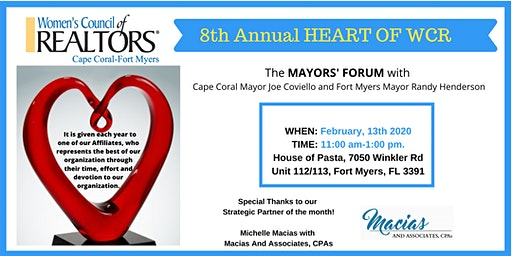 Industry Luncheon & Heart of WCR Event - Women's Council of REALTORS Cape Coral-Fort Myers