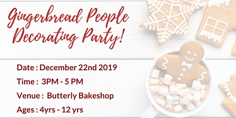 Gingerbread People Decorating Party! tickets