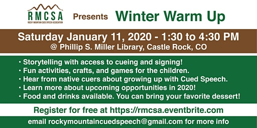 Winter Warm Up  with the Rocky Mountain Cued Speech Association
