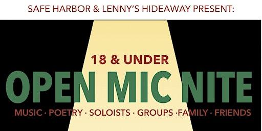 18 & Under Open Mic Nite