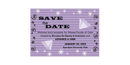 UNM Women Faculty of Color welcome back reception