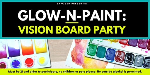 Glow-N-Paint Vision Board Party