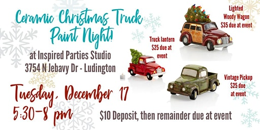 SOLD OUT  Ceramic Truck Paint Night!