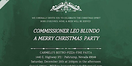 Commissioner Blundo Christmas Party 2019 tickets