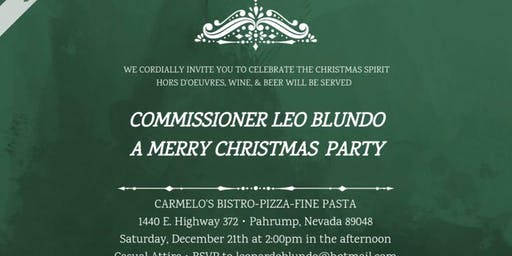Commissioner Blundo Christmas Party 2019