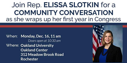 Rochester Community Conversation with Rep. Elissa Slotkin