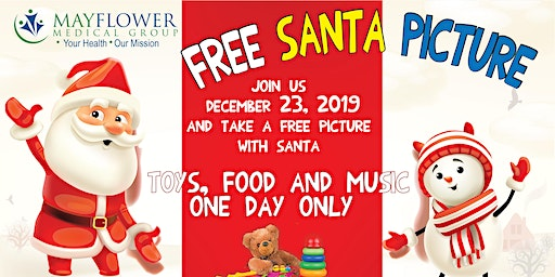 El Monte toy drive and free santa picture