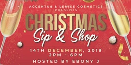 Christmas Sip & Shop tickets