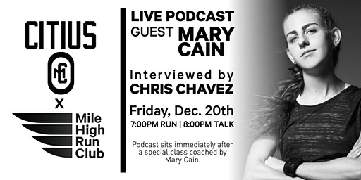 Citius Mag Podcast LIVE: Hosted by Mile High Run Club