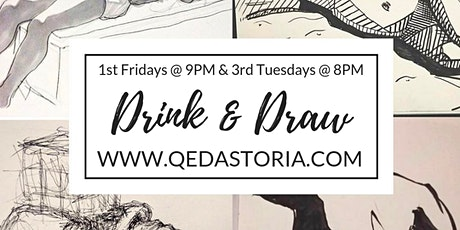 Astoria Drink n Draw with a Live Model - 3rd Tuesdays tickets