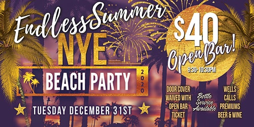 Santa Barbara Sharkeez New Years Eve Open Bar 2020