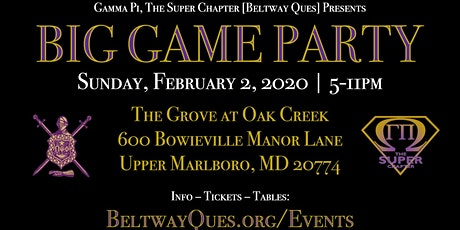 Big Game Party :: Sunday, Feb. 2, 2020 :: The Grove :: 5p - 11p tickets