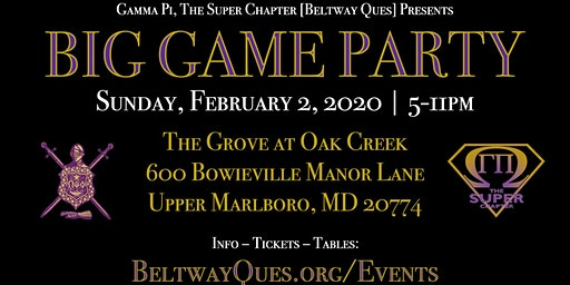 Big Game Party :: Sunday, Feb. 2, 2020 :: The Grove :: 5p - 11p