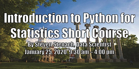 Introduction to Python for Statistics Short Course tickets