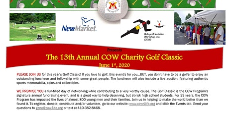 2020 COW Charity Golf Classic - 13th Annual tickets