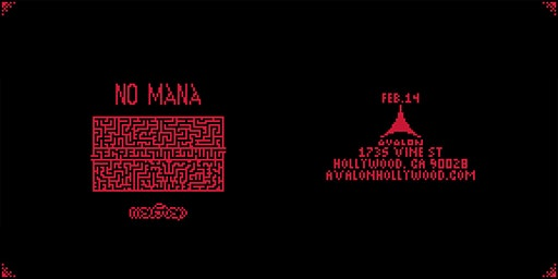 Avalon Fridays: No Mana - Secret Something Tour