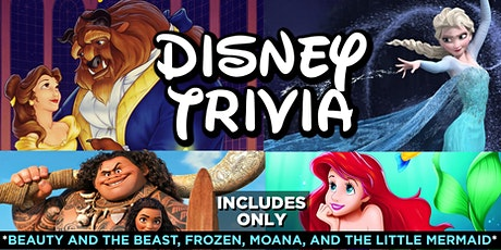 Disney Movie Trivia - Beauty and The Beast, Frozen, Moana and The Little Mermaid tickets