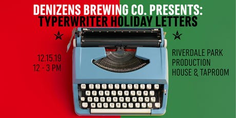 Typewriter Holiday Letters tickets