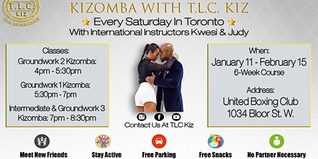 Kizomba Dance Lessons in Toronto With Kwesi & Judy tickets