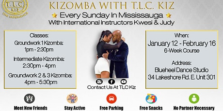 Kizomba Dance Lessons in Mississauga With Kwesi & Judy tickets