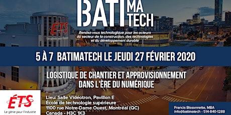 Batimatech-Logistique de chantier & approvisionnement à l'ère du numérique billets