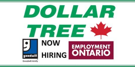 Dollar Tree Hiring Event @ Burlington Goodwill Career Centre tickets