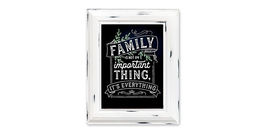 Family is EVERYTHING Chalk Paste Sign: Sip and Craft at Magnanini Winery!!!!