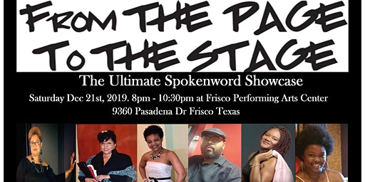 From Page To Stage: SpokenWord Showcase