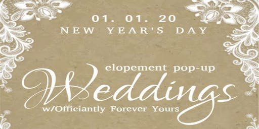 New Years Day Pop-Up Weddings  W/ Officiantly Forever Yours & 5380 Studios