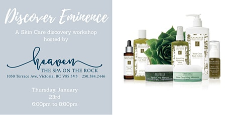 Discover Eminence : Skin Care Workshop tickets