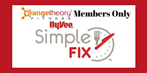 PRIVATE Orangetheory Simple Fix Meal Prep Workshop - January