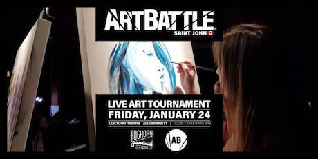 Art Battle Saint John - January 24, 2020 tickets
