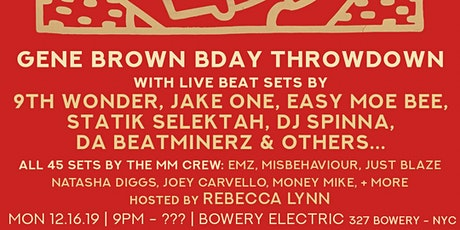 MM Holiday Jam - Gene Brown Beat Show with 9th Wonder, Jake One & more tickets