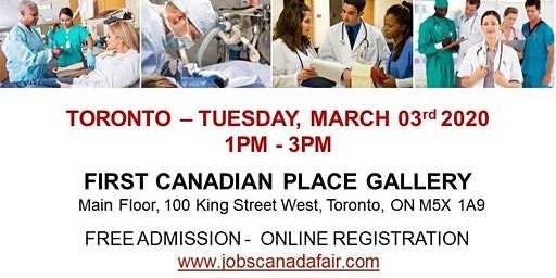 Toronto Healthcare Job Fair - March 03rd, 2020