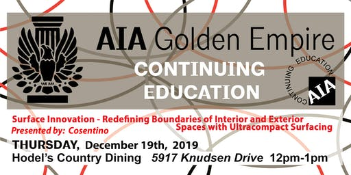 December 2019   AIAGE CONTINUING EDUCATION LUNCH & LEARN   Hodel's Country Dining