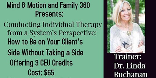CEU Workshop: Conducting Individual Therapy from a System's Perspective