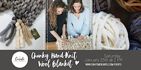 Chunky Hand-Knit Wool Blanket tickets