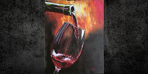 Red Wine on Canvas, Paint Night