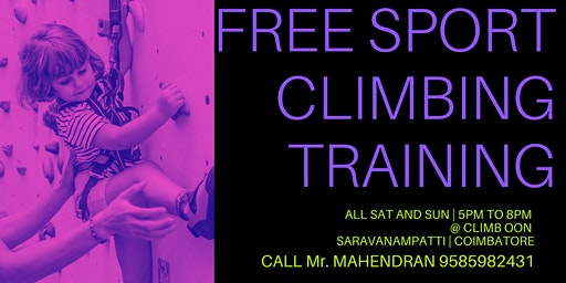 FREE OLYMPIC SPORT CLIMBING TRAINING FOR KIDS ONLY