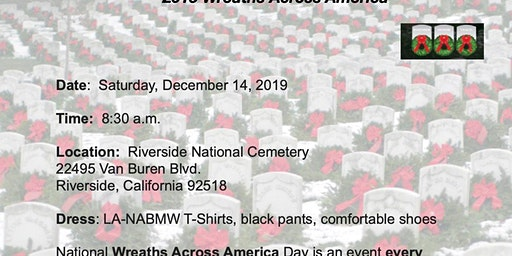 Wreaths across america Lanabmw supporting