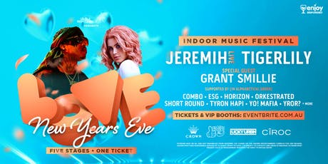 LOVE NYE (Indoor Music Fest) at Crown Melbourne ft. JEREMIH + TIGERLILY tickets