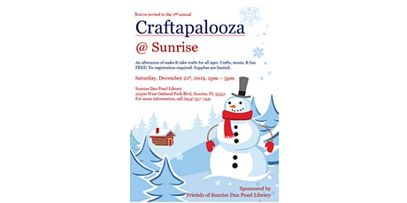 Craftapalooza: An Afternoon of Make & Take Crafts for All Ages tickets