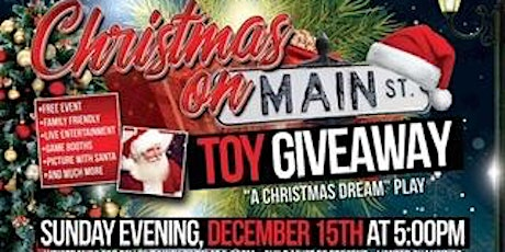 Christmas on Main Street Toy Giveaway tickets