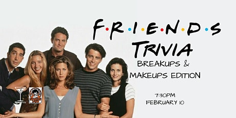 Friends Trivia - Feb 10, 7:30pm - Garbonzo's tickets