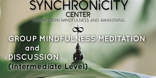 Intermediate Level Group Meditation & Discussion Weekly Session