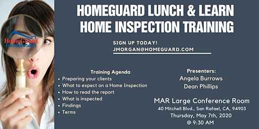 HomeGuard Home Inspection Training - Breakfast & Learn