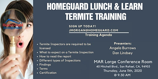 HomeGuard Termite Inspection Training - Breakfast & Learn