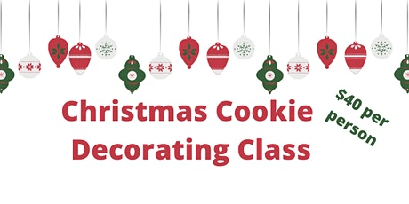 12/21 Adult Christmas Cookie Decorating Class tickets